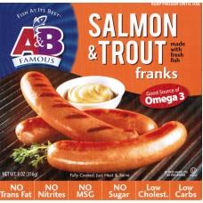 A&B Salmon & Trout Franks Gluten Free