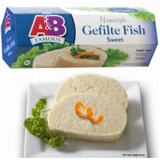 A&B Gefilte Fish - Regular Kosher for Passover  & Gluten Free